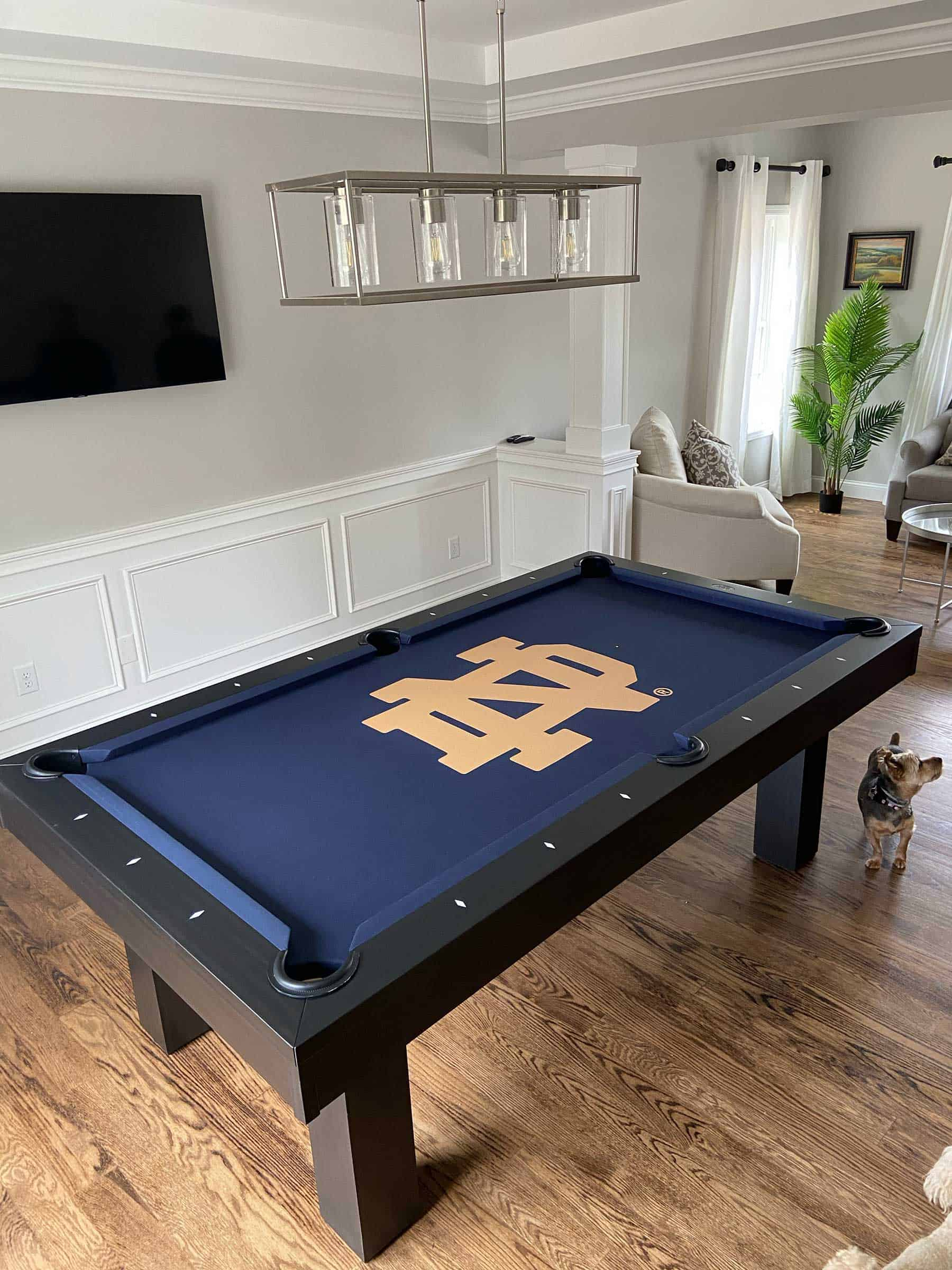 notre dame pool table