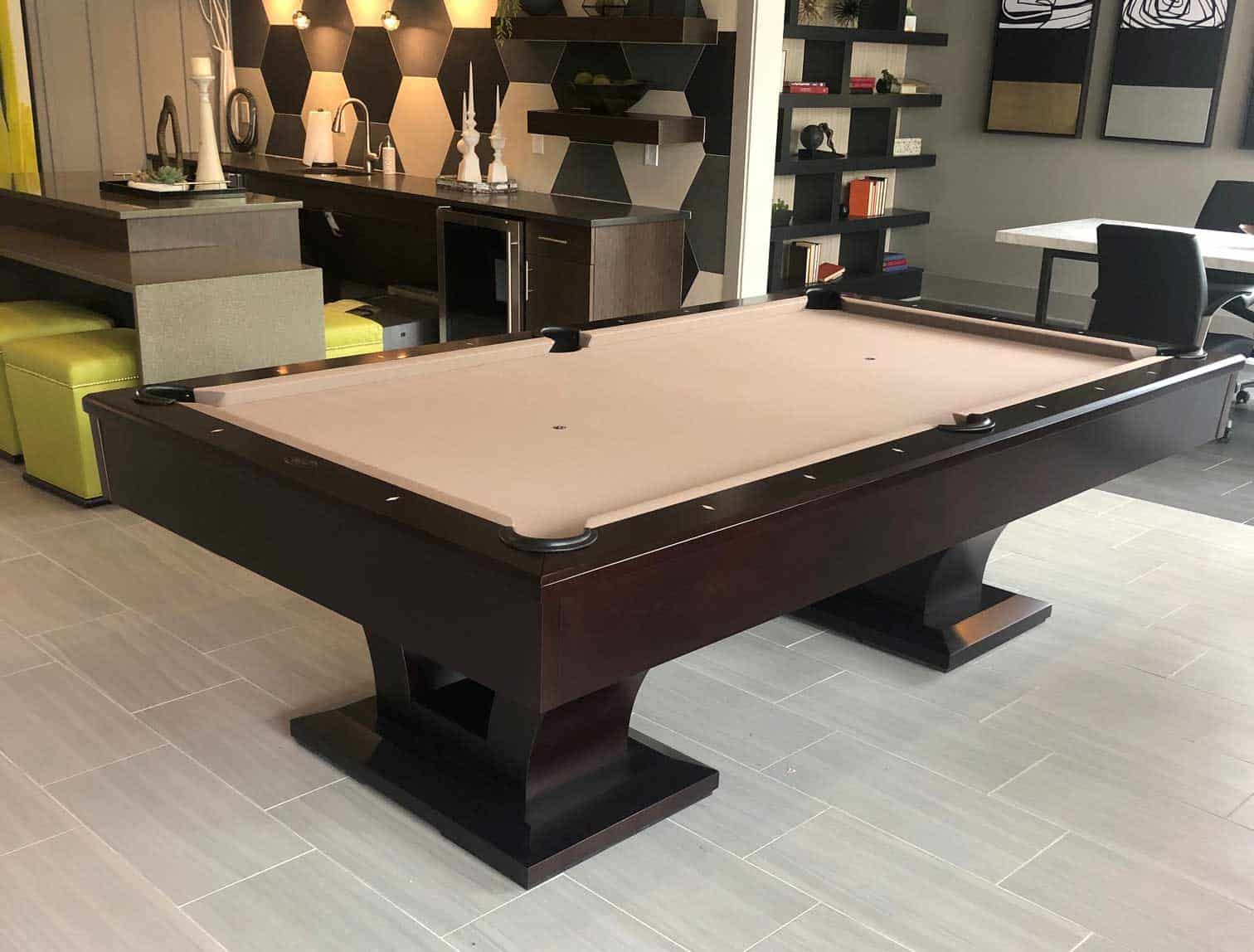 milford ct brown pool table