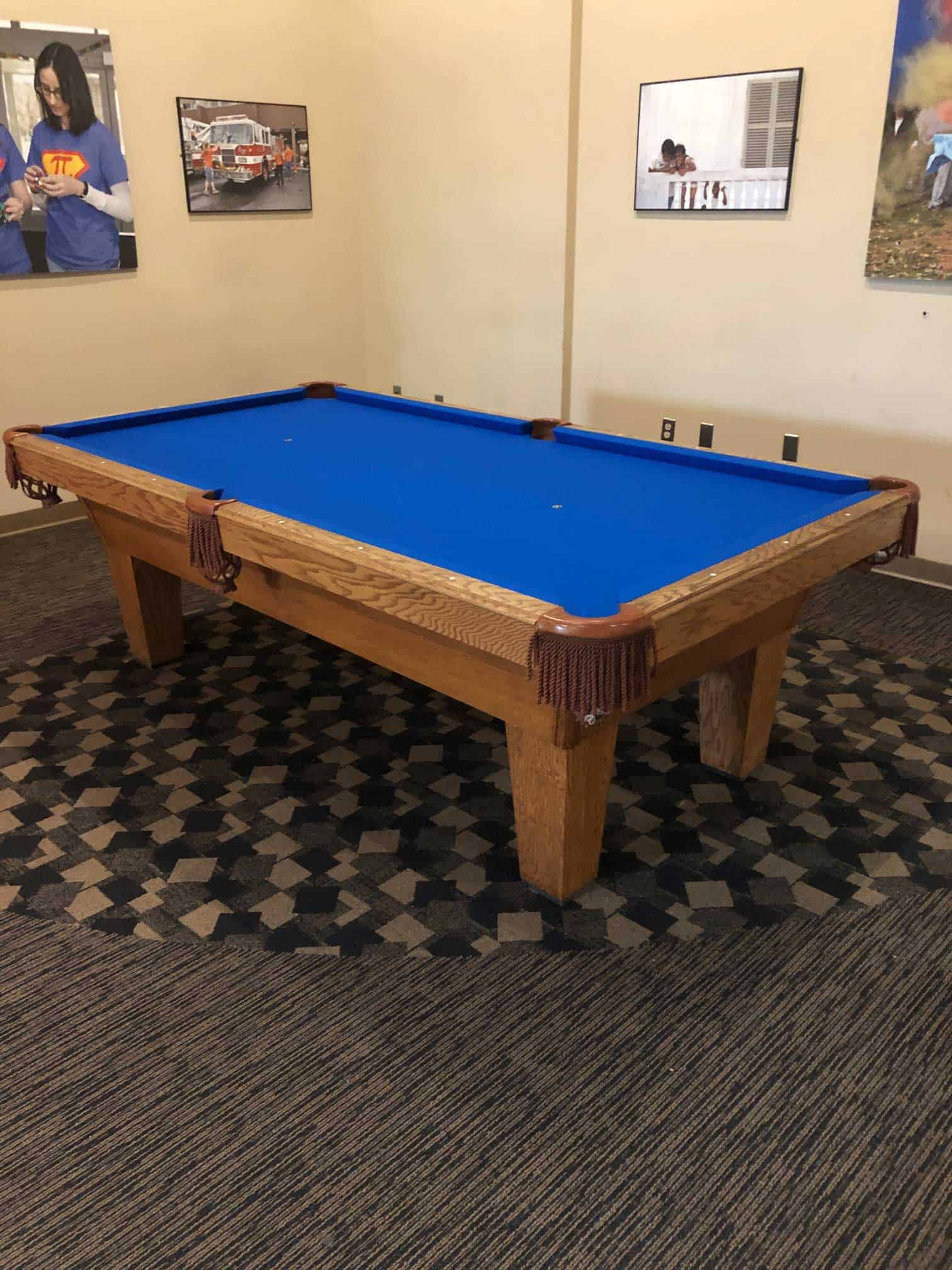 pool table at wcsu
